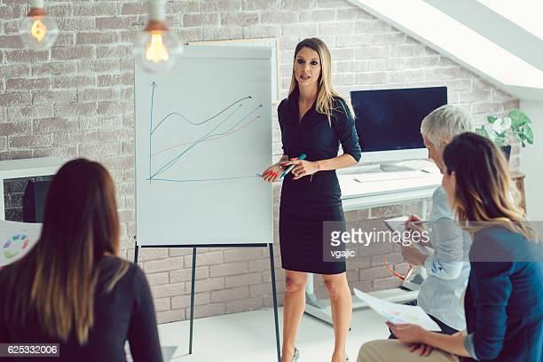 ビジネス女性のプレゼンテーション