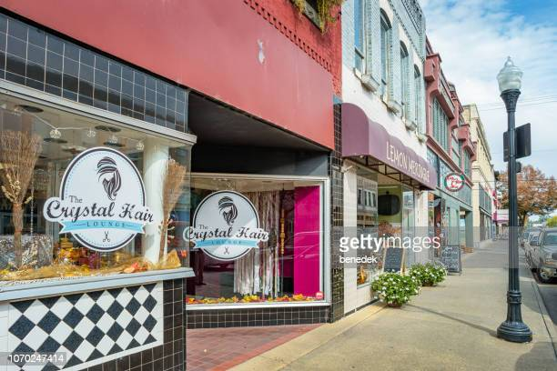 businesses in downtown idaho falls idaho usa - idaho falls stock pictures, royalty-free photos & images