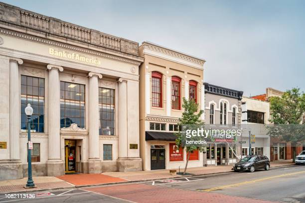 businesses in downtown waco texas usa - waco foto e immagini stock