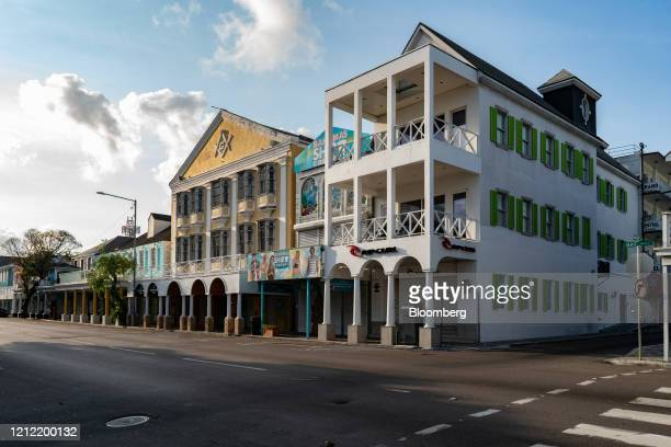 Businesses stand temporarily closed on Bay Street in Nassau Bahamas on Friday April 24 2020 The Caribbean countries of Barbados Belize and the...