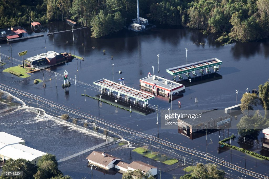 Aftermath Of Florence As Floods Obscure Damage Inflicted : News Photo