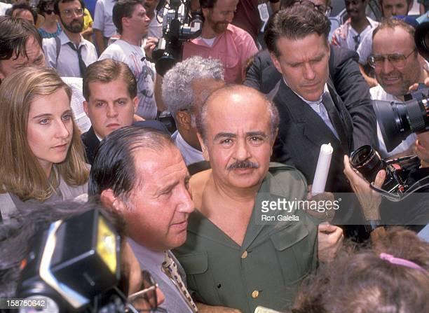 Businessman Adnan Khashoggi on July 27 1989 leaves The Federal Court in New York City