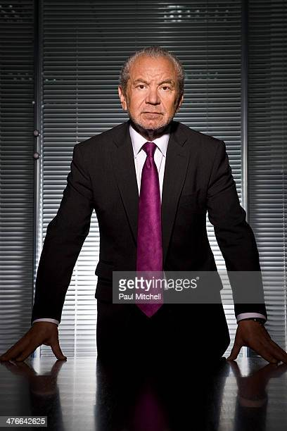 Businessman Alan Sugar is photographed on September 1 2010 in London England