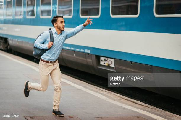 businessman almost missed the train - failure stock pictures, royalty-free photos & images