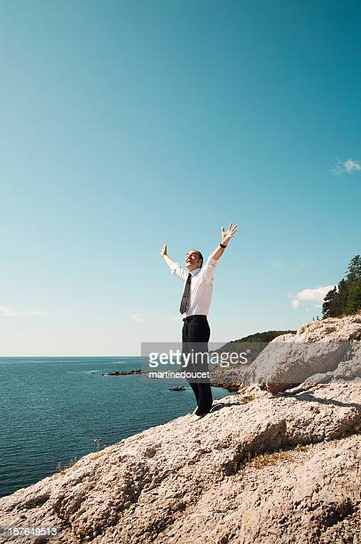 """businessman alone on shore - """"martine doucet"""" or martinedoucet stock pictures, royalty-free photos & images"""