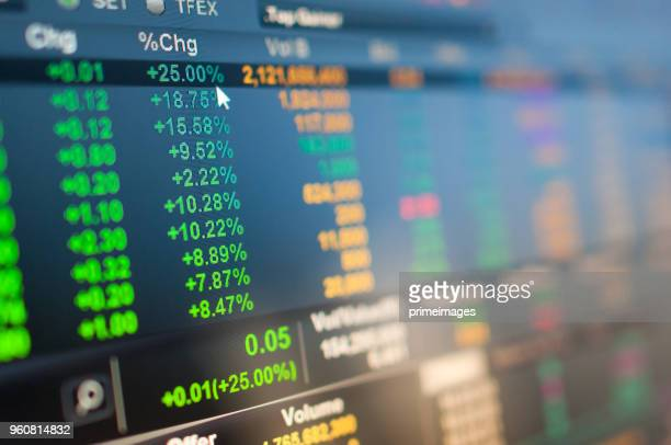 businessman analysis stockmarket with digital tablet and laptop in office - financial occupation stock pictures, royalty-free photos & images