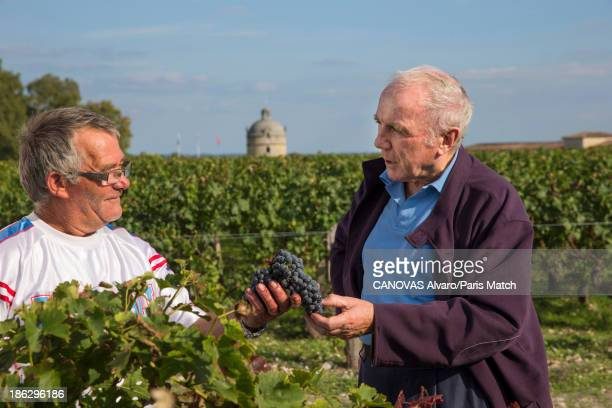 Businessman and art collector Francois Pinault is photographed for Paris Match on October 9 2013 in Paulliac France