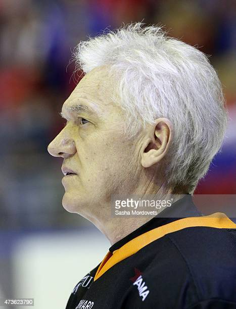 Businessman and billionaire Gennady Timchenko in action during a Nignt Hockey League match on May 16, 2015 in Sochi, Russia. Potanin was joined by...