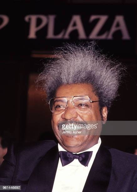Businessman and Boxing Promoter Don King at Tyson vs Holmes Convention Hall in Atlantic City New Jersey January 22 1988