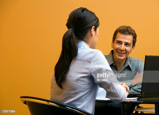 businessman and businesswoman - blouse stock pictures, royalty-free photos & images