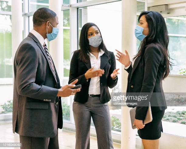 Office Workers Wearing Face Masks Stock Pictures, Royalty-free ...