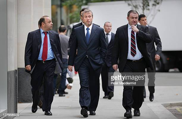 Businessman and Chelsea Football Club owner Roman Abramovich arrives at The High Court on October 4 2011 in London England Russian businessman Boris...