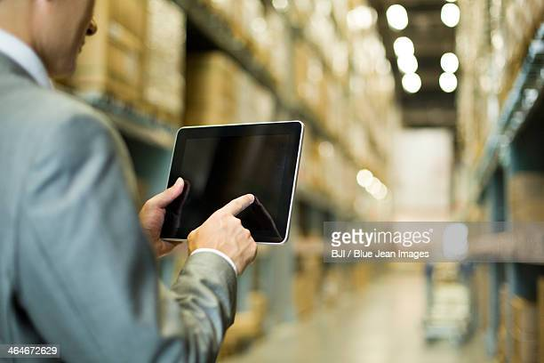 Businessman and digital tablet