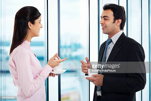 Businessman and executive having a conversation