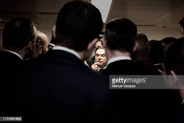 Businessman and former CEO of carmakers Nissan and Renault Carlos Ghosn is photographed attending a conference on globalization at the LSE for El...