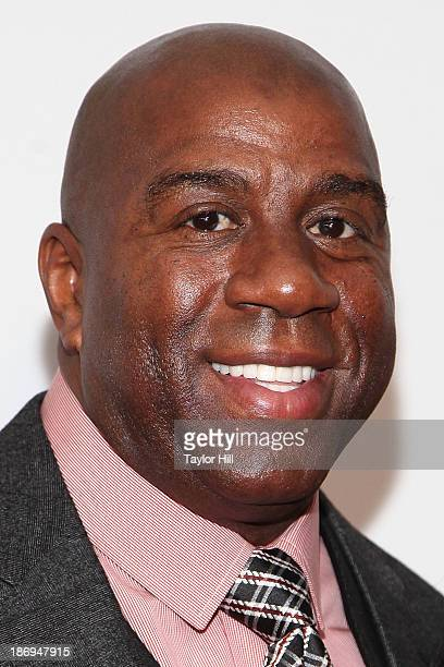 Businessman and former Los Angeles Lakers point guard Earvin Magic Johnson attends the 2013 EBONY Power 100 List Gala at Frederick P Rose Hall Jazz...