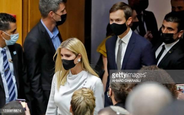 Businessman and former Trump-administration presidential advisor Jared Kushner and Daughter and Senior Advisor to the former US President Ivanka...