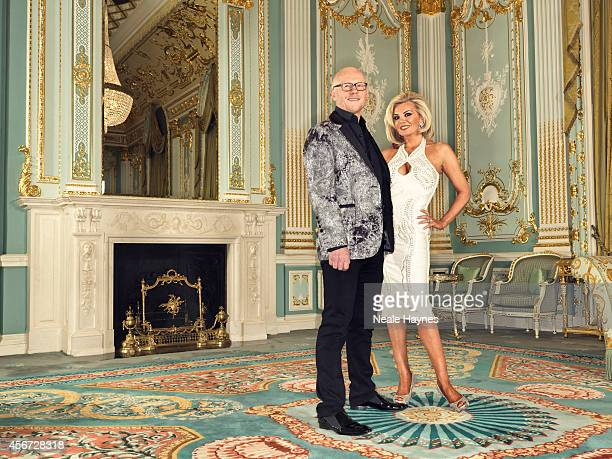 Businessman and founder of Phones4U John Caudwell is photographed for ES magazine with his wife Claire Johnson on March 18 2014 in London England