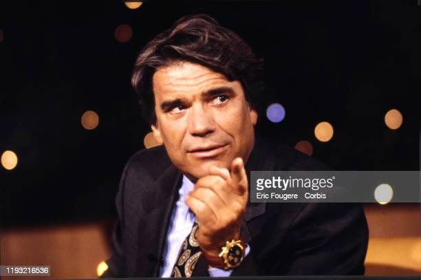 Businessman and French politician, Bernard Tapie poses during a portrait session in Paris, France on .