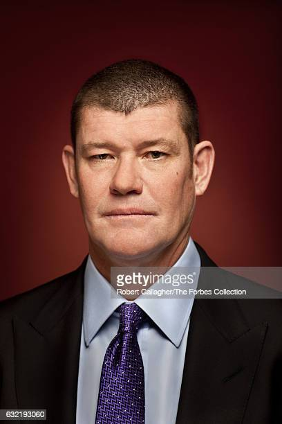 Businessman and investor James Packer is photographed for Forbes Magazine Asia on January 14 2014 in Los Angeles California CREDIT MUST READ Robert...