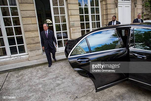 Businessman and Mayor of New York City Michael Bloomberg is photographed for Time Magazine on September 23 and 24 in Paris France and London England...
