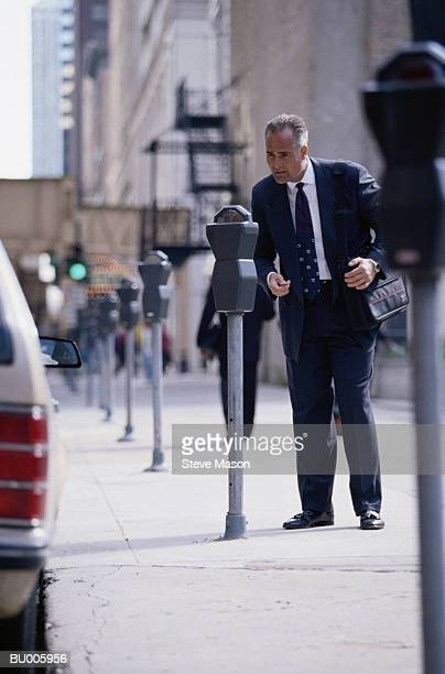 Businessman and Parking Meter