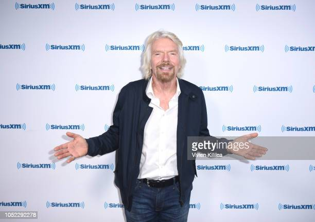 Businessman And Philanthropist Richard Branson Sits Down With SiriusXM's John Fugelsang For SiriusXM's 'Learning With Richard' Branson on October 15,...