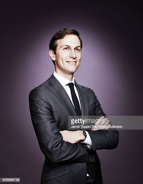 Businessman and political advisor Jared Kushner is photographed for Forbes Magazine on November 17 2016 in New York City PUBLISHED IMAGE CREDIT MUST...