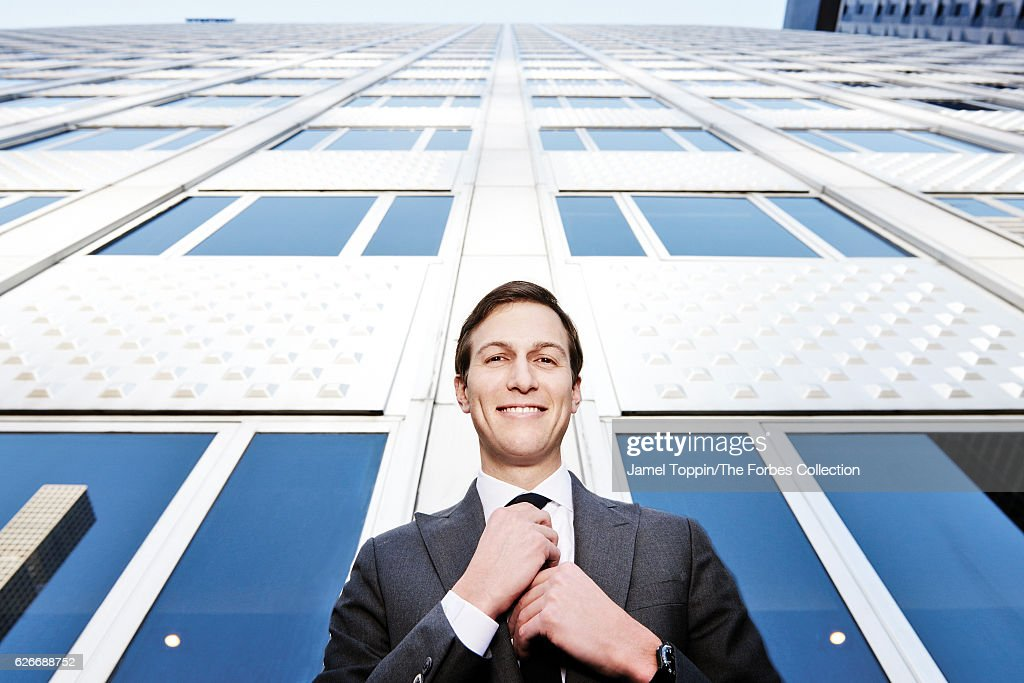 Businessman and political advisor, Jared Kushner is photographed for Forbes Magazine on November 17, 2016 in New York City. PUBLISHED IMAGE.