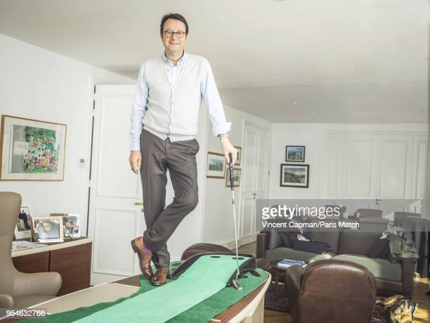 Businessman and president of the Ryder Cup France 2018 Pascal Grizot is photographed for Paris Match on March 20 2018 in Paris France