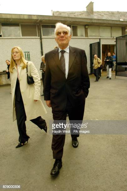 Businessman and property developer Tom Gilmartin arriving at Dublin Castle on the day that Irish premier Bertie Ahern gave evidence to the Mahon...