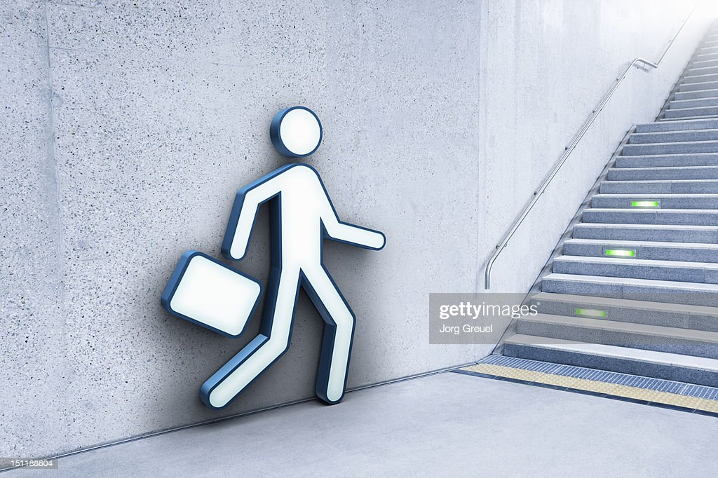 Businessman and stairs : Stock Photo