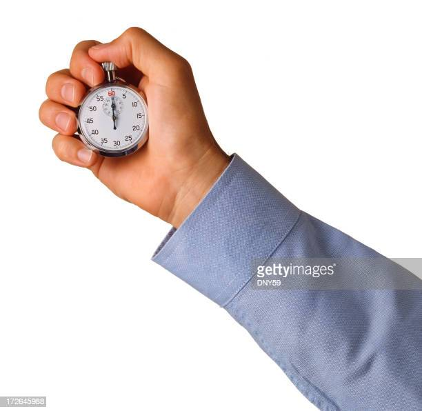 Businessman and Stopwatch