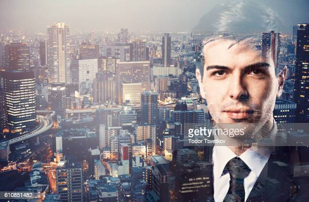 Businessman and the city
