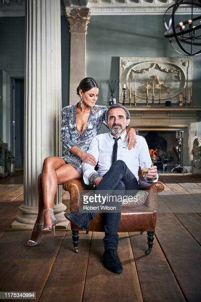 Businessman and the cofounder of the fashion label Superdry Julian Dunkerton is photographed with fashion designer Jade Holland Cooper at their home...