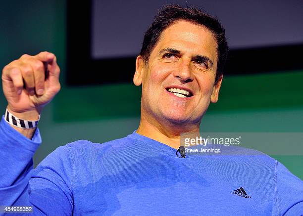 Businessman and TV personality Mark Cuban speaks onstage at TechCrunch Disrupt at Pier 48 on September 8 2014 in San Francisco California
