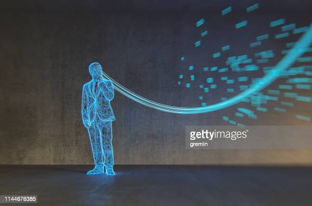 businessman and virtual cloud connection - prisoner stock pictures, royalty-free photos & images