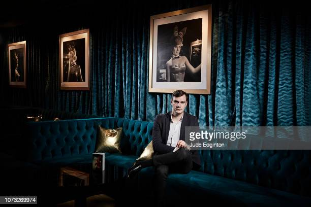 Businessman and writer Cooper Hefner is photographed for the Times on May 11 2018 in London England