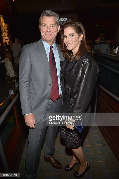 Businessman Antony Ressler and actress Jami Gertz attend USC Shoah Foundation's 20th Anniversary Gala at the Hyatt Regency Century Plaza on May 7...