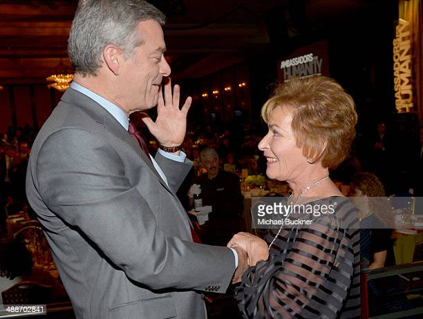 Businessman Antony Ressler and TV personality Judy Sheindlin attend USC Shoah Foundation's 20th Anniversary Gala at the Hyatt Regency Century Plaza...