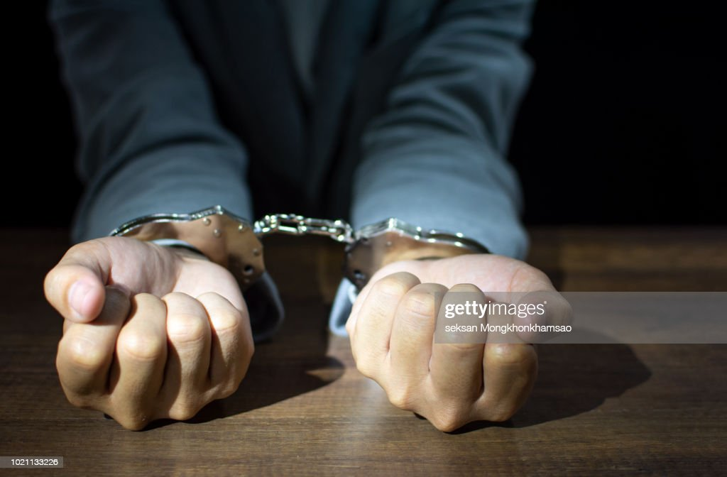 Businessman arrested for fraud to the state : Stock Photo