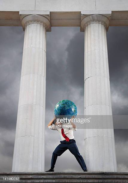 Businessman as Atlas