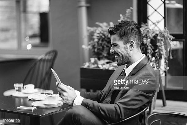 Businessman at coffee break