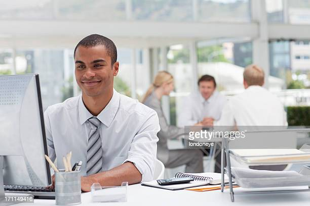 Businessman at his desk