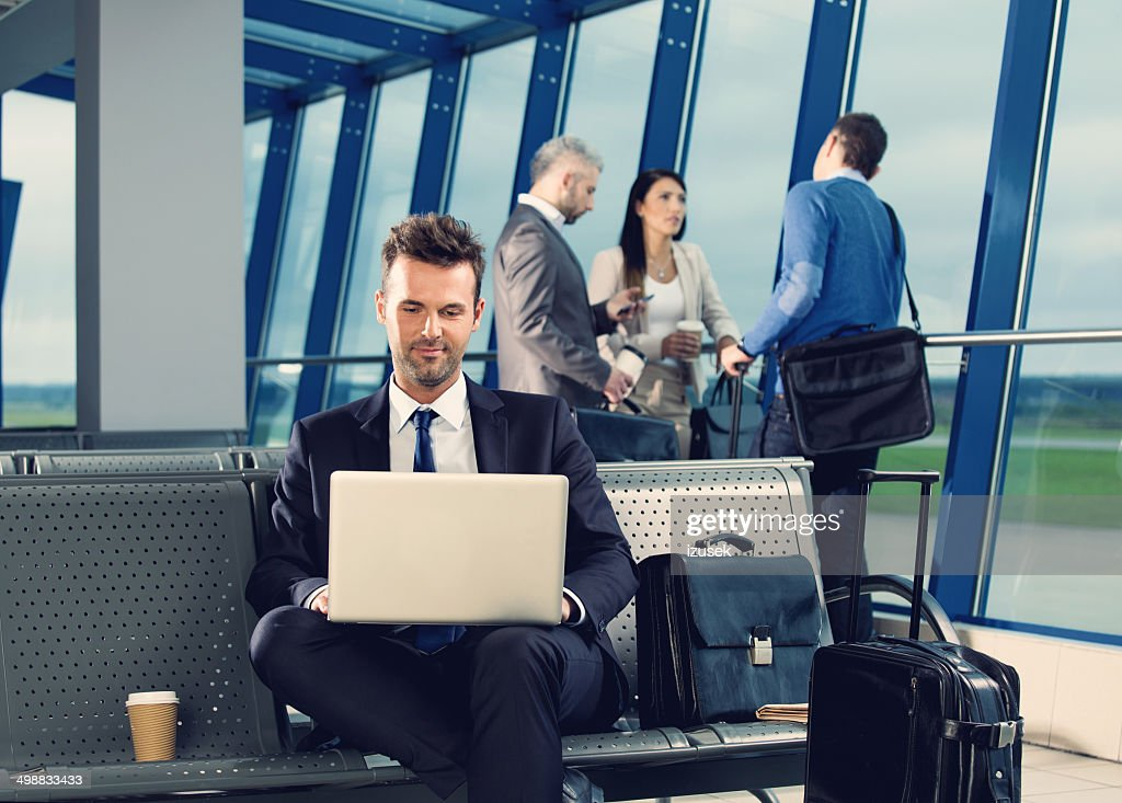 Businessman at the airport : Stock Photo