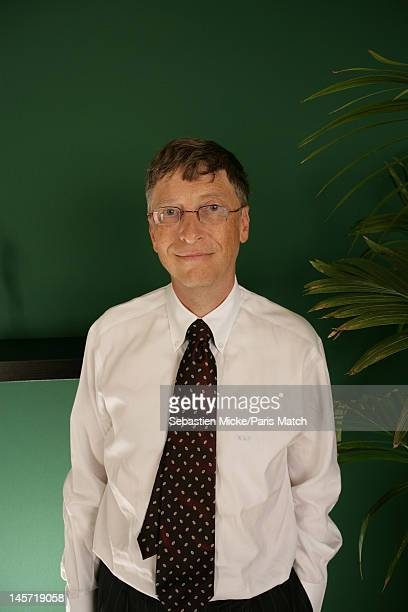 Businessman Bill Gates photographed at the release of the Xbox 360 in France for Paris Match on October 25, 2005 in Paris, France.