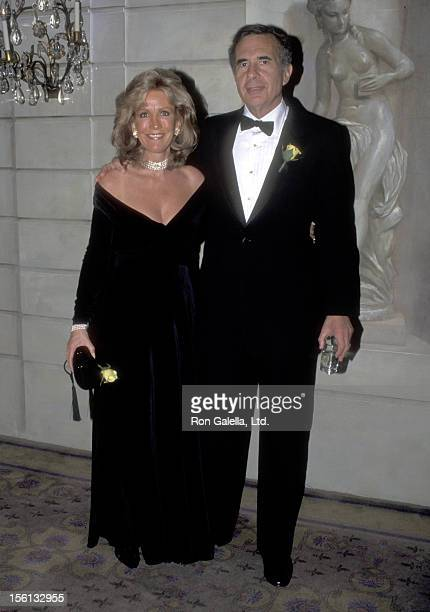 Businessman Carl Icahn and date Gail Golden attend The Raoul Wallenberg Award Gala Honoring Elizabeth Dole on January 17 1995 at The Pierre Hotel in...