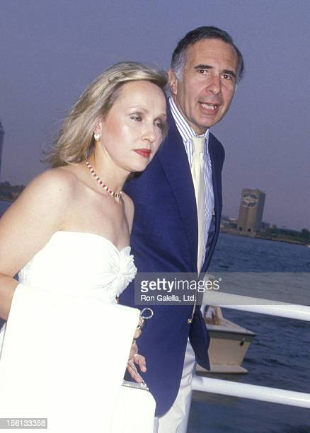 Businessman Carl Icahn and wife Liba Icahn attend Donald Trump's Fourth of July Party on July 4 1988 Aboard the Trump Princess The Water Club in New...
