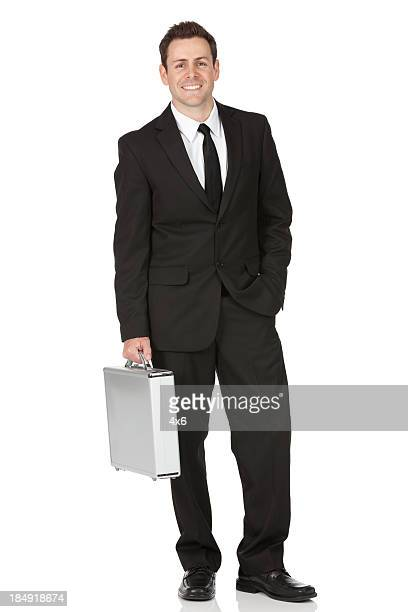 Businessman carrying a briefcase