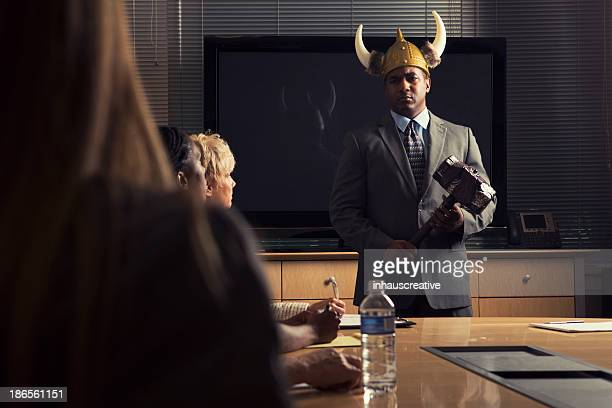 businessman channeling his inner warrior. - gladiator stock photos and pictures